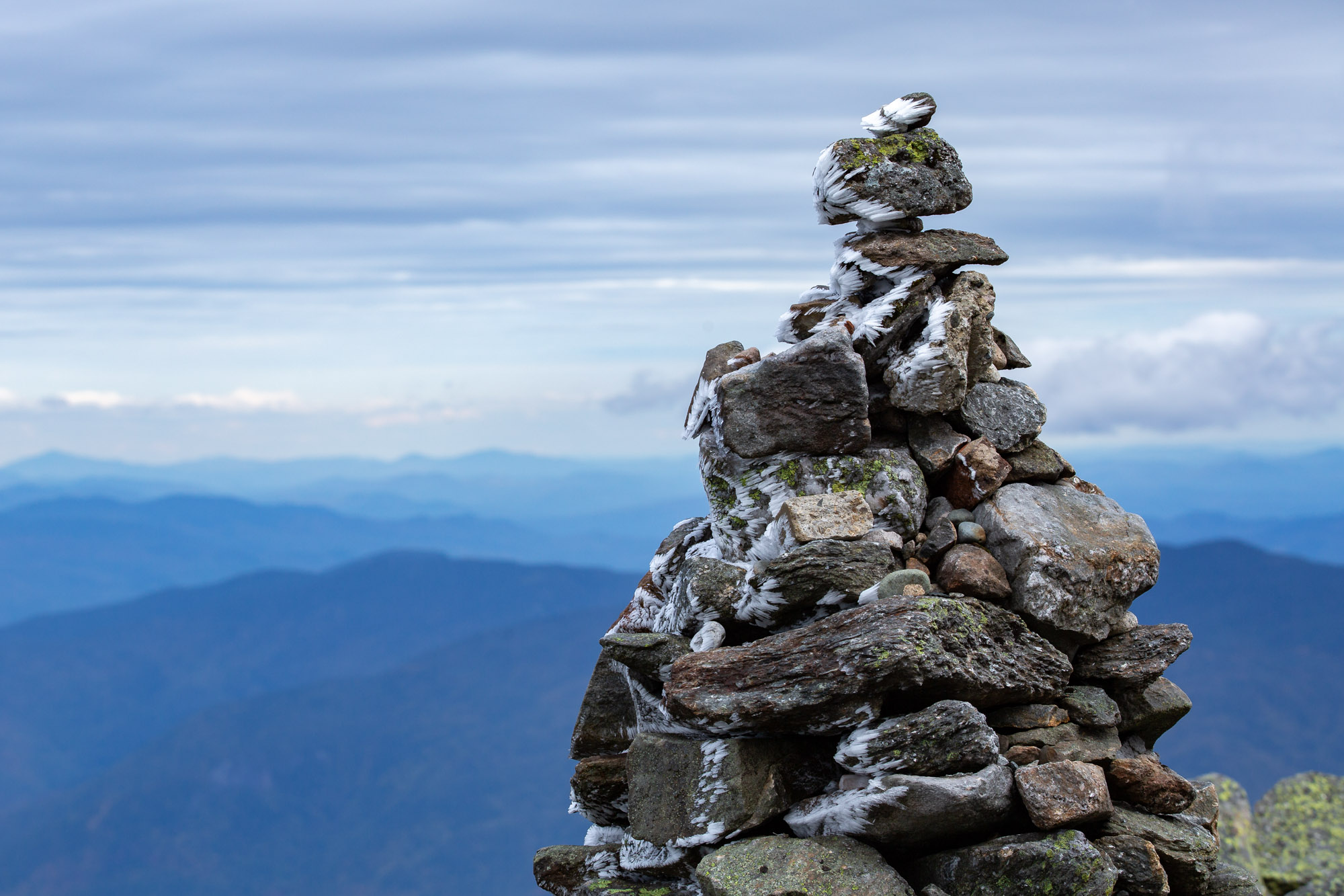 Cairns atop Mt Washington